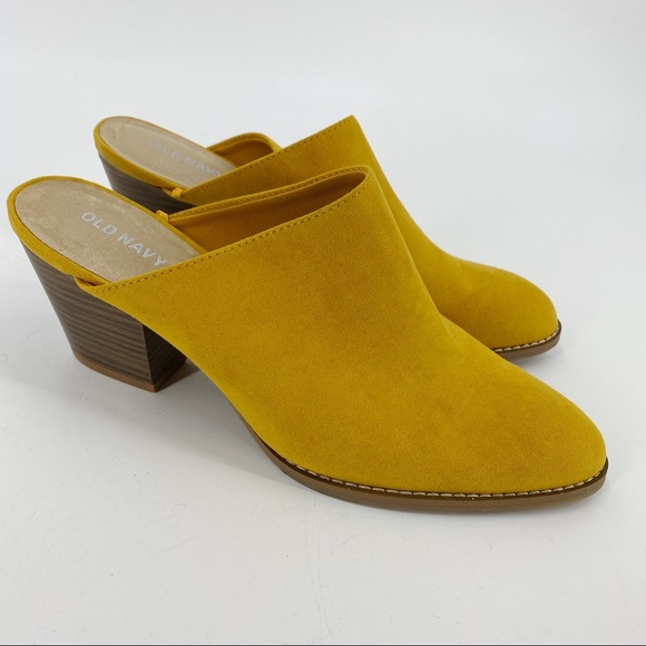 Old Navy mustard Yellow pointed toe mules